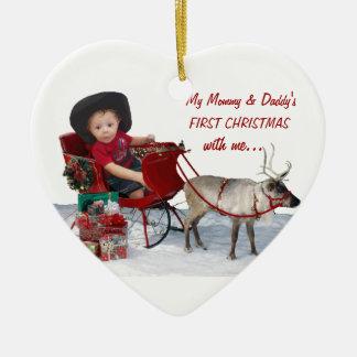 Första jul för mammor & för pappor med mig. julgranskulor