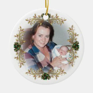Första jul som är en mormor!  Prydnad Julgransprydnad Keramik