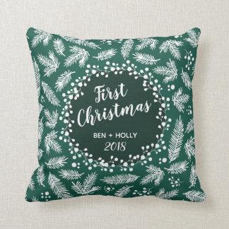 Första jul som gifta sig evergreenpersonlig kudde