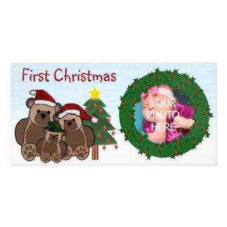 Första julfotokort fotokort