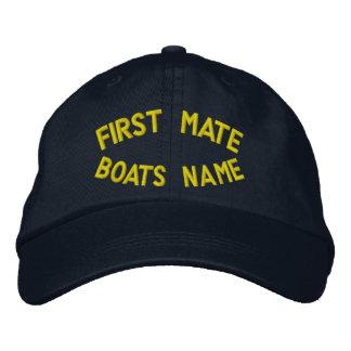 Första kompis med ditt fartygnamn broderad keps