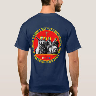 Första korsfarare förseglar skjortan tröjor