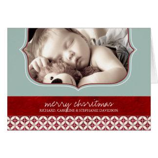 Första kort för julfotohälsning