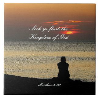 Första kungarike för sökanden av guden, Matthew 6, Kakelplatta