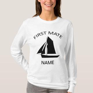 Första matta T-tröja för LS för vit för T-shirts