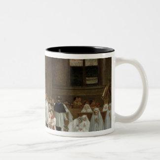 Första nattvardsgång, 1867 Två-Tonad mugg