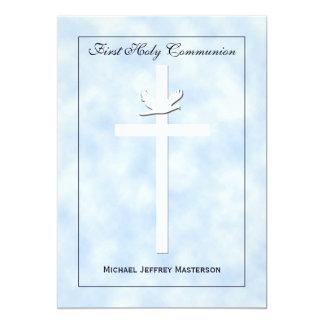 Första nattvardsgånginbjudan för pojkar 12,7 x 17,8 cm inbjudningskort