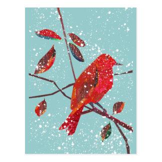 Första snöjulhelg vykort