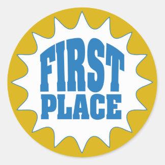 Första ställeutmärkelse runt klistermärke