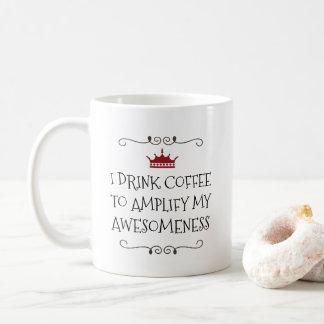 Förstärkt Awesomeness roligt kaffecitationstecken Kaffemugg