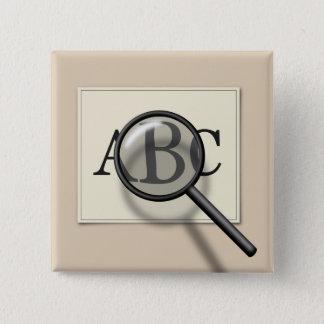 Förstora ABC - Kvadrera knäppas Standard Kanpp Fyrkantig 5.1 Cm