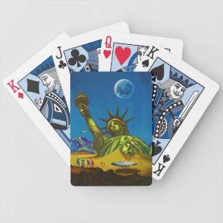 förstörd jord som leker kort spelkort