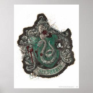Förstörd Slytherin vapensköld - Posters