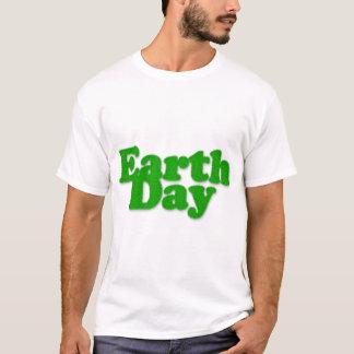 Förstörd T-tröja för jord dag T-shirt