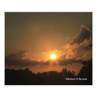 Förstoring för Kansas solnedgångfoto Fototryck