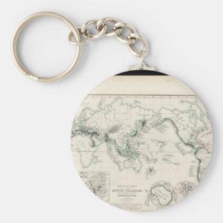 Försvagad världskarta 17 rund nyckelring