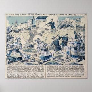 Försvar av Tuyen Quang, 14th Februari 1885 Poster