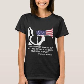 Försvara åsiktsfrihetkvinna T Tee Shirts