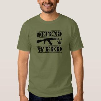 försvara ogräset t shirts