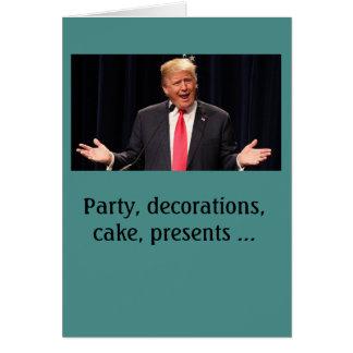 """""""Försvårade"""" det Donald Trump födelsedagkortet Hälsningskort"""