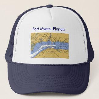 Fort Myers Florida den nautiska hamnen kartlägger Truckerkeps