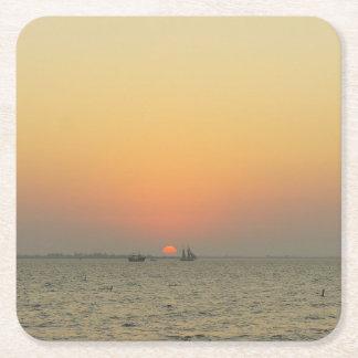 Fort Myers solnedgång Underlägg Papper Kvadrat