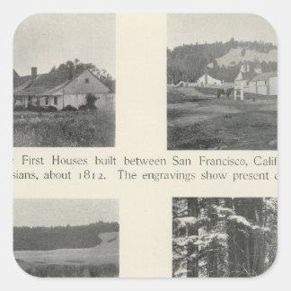 Fort Ross, Kalifornien Fyrkantigt Klistermärke