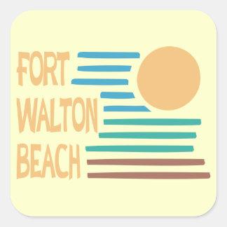 Fort Walton Beach geometrisk design Fyrkantigt Klistermärke