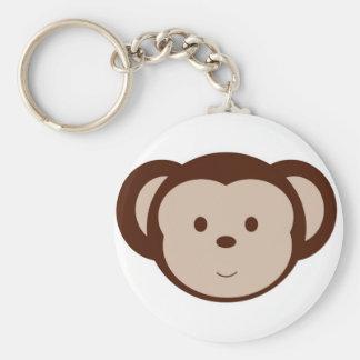 Förtjusande apa Keychain Rund Nyckelring