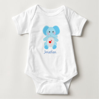Förtjusande baby blue elefantbaby shower tee shirts