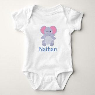 Förtjusande baby shower för grå färgelefantpojke tröja