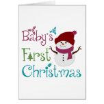 Förtjusande Babys första jul Hälsnings Kort