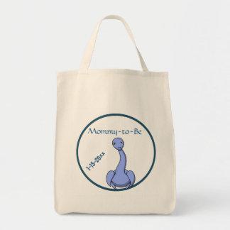 Förtjusande blåttDinosaurmammor som är baby shower Mat Tygkasse