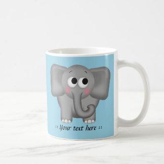 Förtjusande elefant - blåttpersonlig mugg