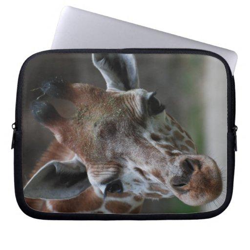 Förtjusande giraffanteckningsboksleeve laptop datorfodral