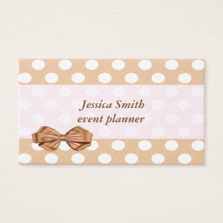 Förtjusande gladlynt gullig polka dots visitkort