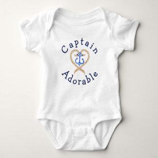 Förtjusande gullig nautisk baby för kapten tröjor