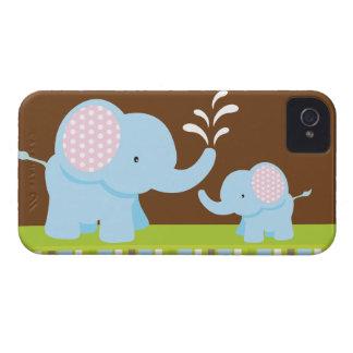 Förtjusande gullig tecknadelefantblackberry bold iPhone 4 Case-Mate skydd