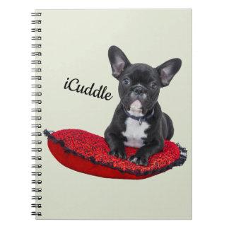 Förtjusande iCuddlefranskbulldogg Anteckningsbok Med Spiral