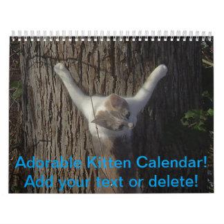 Förtjusande kattungekalender kalender