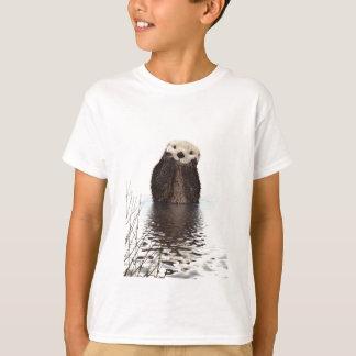 Förtjusande le utter i sjön t-shirt