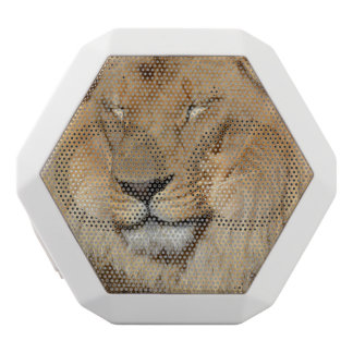 Förtjusande lejont vit bluetooth högtalare