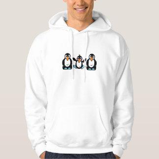 Förtjusande pingvinkompisar sweatshirt med luva