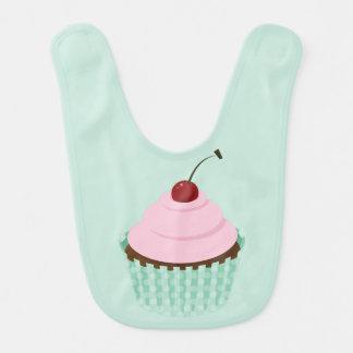 Förtjusande rosa muffin, baby första hakklapp