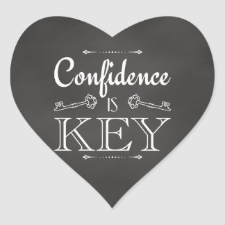 Förtroende är nyckel- hjärtformat klistermärke