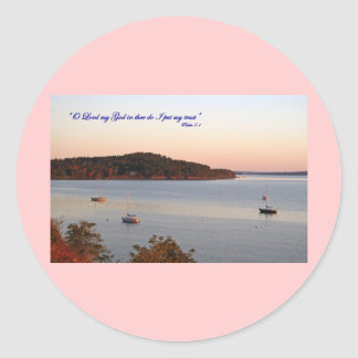Förtroende i lorden, Acadia, Maine Runt Klistermärke