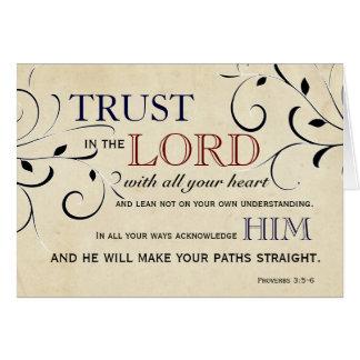 Förtroende i lorden Uppmuntran Kort