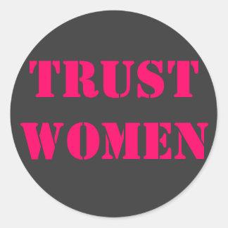 Förtroendekvinnor Runt Klistermärke