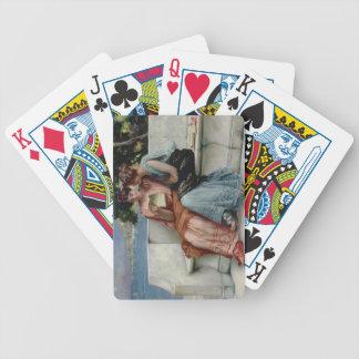 Förtroenden (olja på kanfas) spel kort