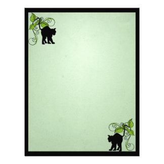 Förtrollad brevhuvud för svart katt